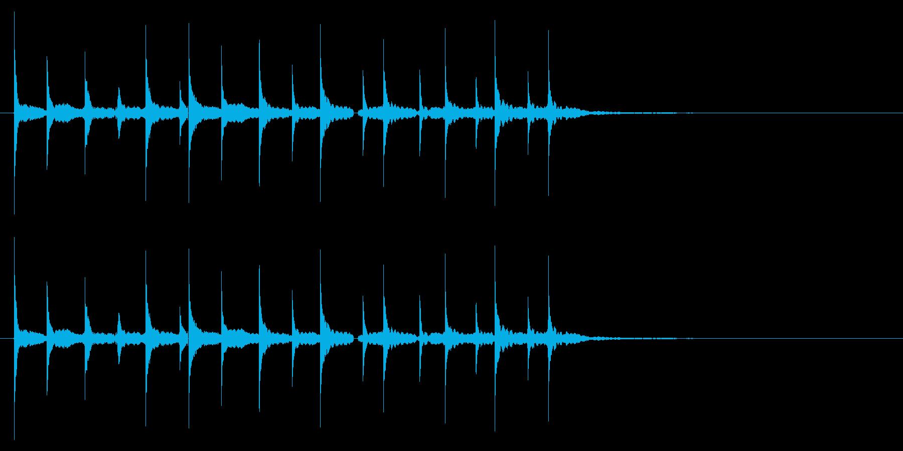 「テレテレテ(マリンバでコミカルな音)」の再生済みの波形