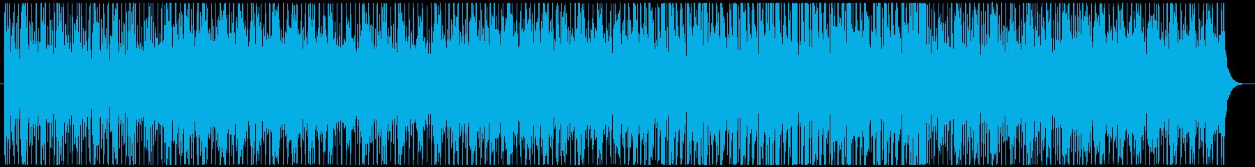 緊張感あふれるアップテンポのBGMの再生済みの波形