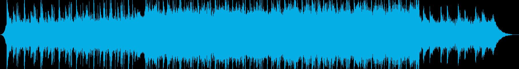 企業技術広告のプレゼンテーション文字列の再生済みの波形