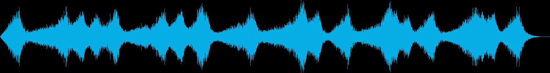 ザバーン..。波・海の音(荒れ気味・長)の再生済みの波形