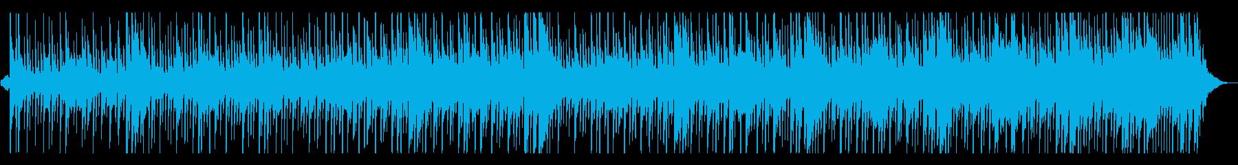 アフリカンなマリンバとドラムのシーケンスの再生済みの波形
