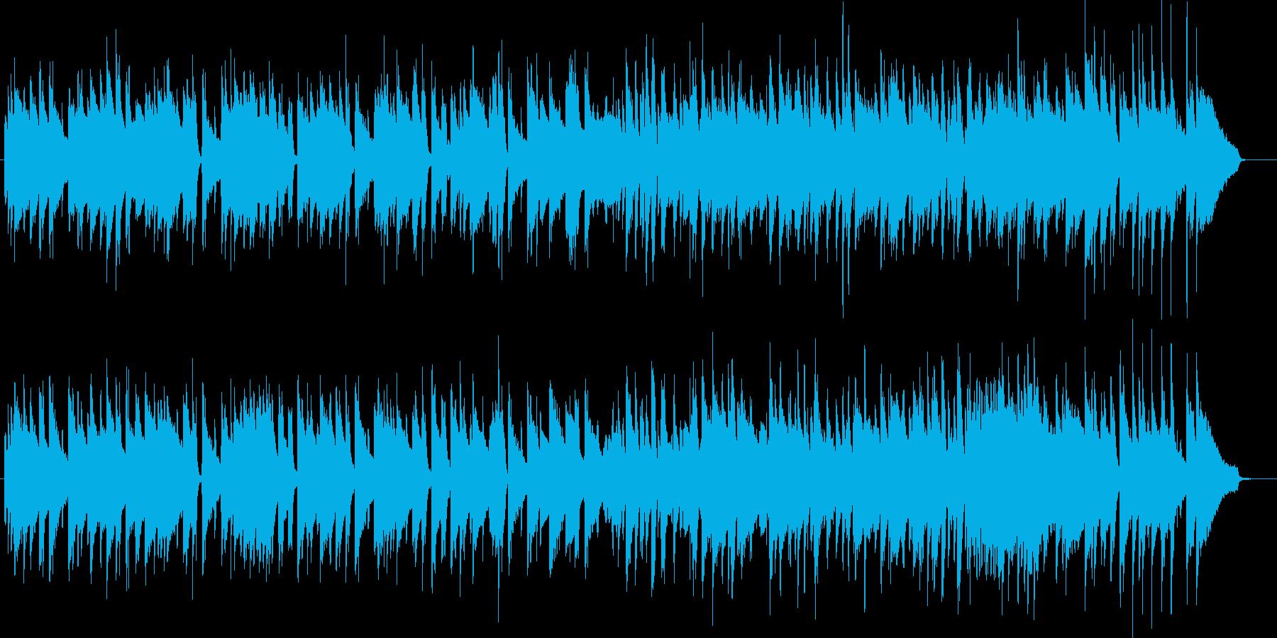 おしゃれな雰囲気のジャズトリオBGMの再生済みの波形
