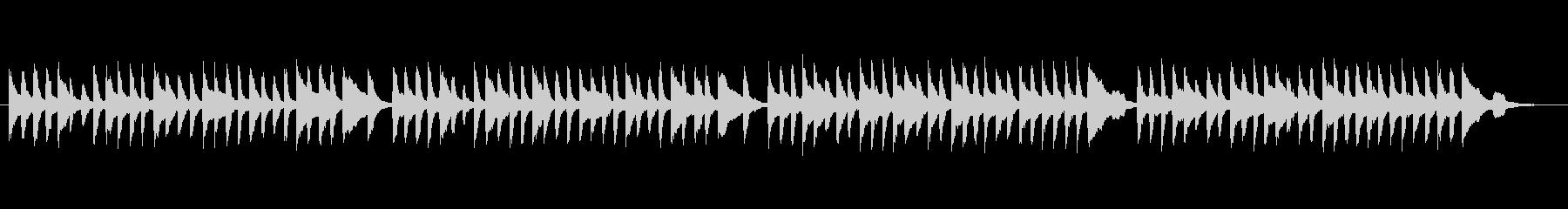 クラシックピアノ、チェルニーNo.16の未再生の波形