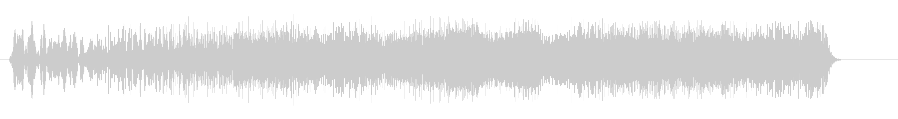キュワキュワーン(アップ系)の未再生の波形