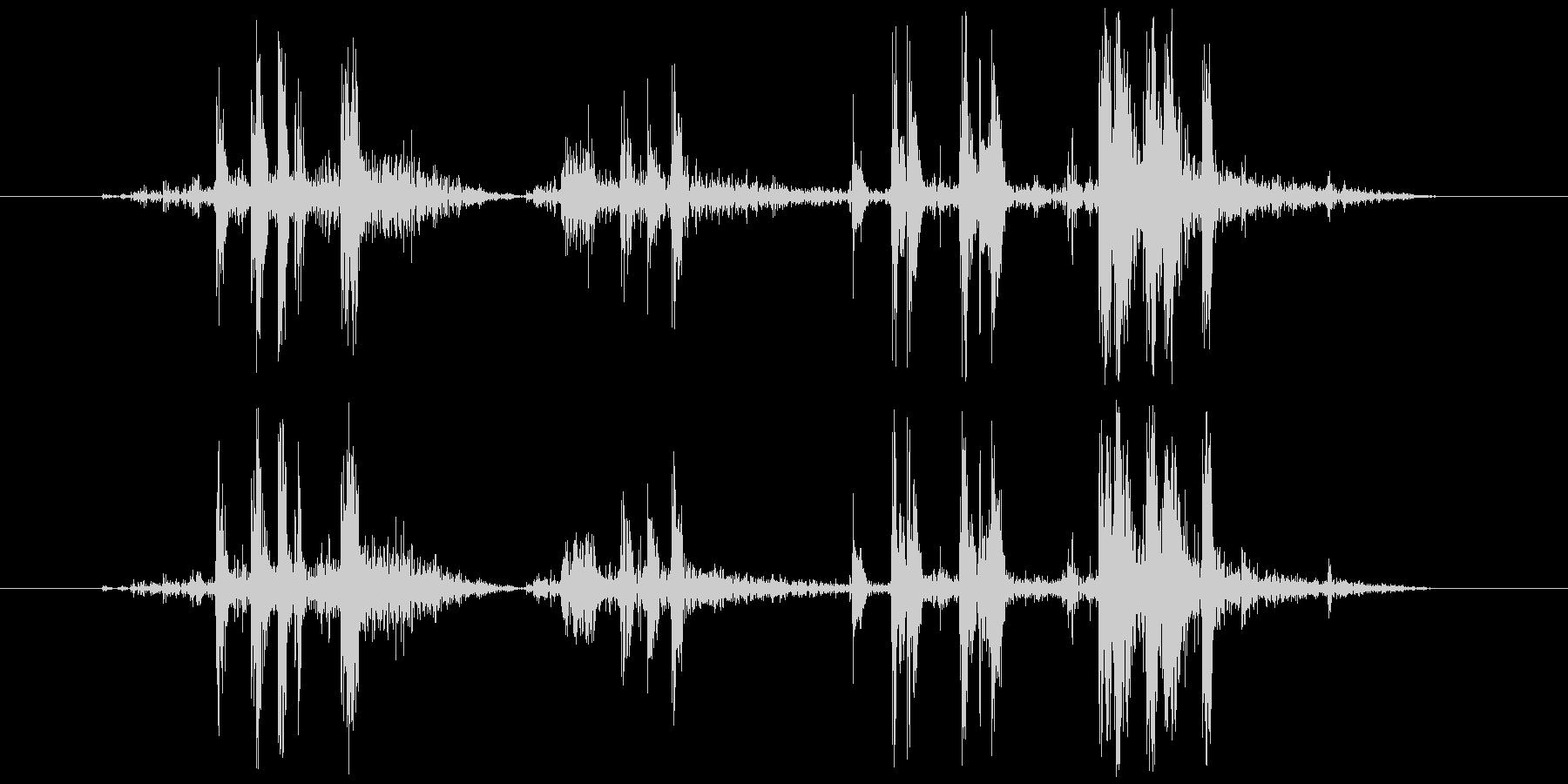 カメラ シャッター音(ノイジー)カッシッの未再生の波形
