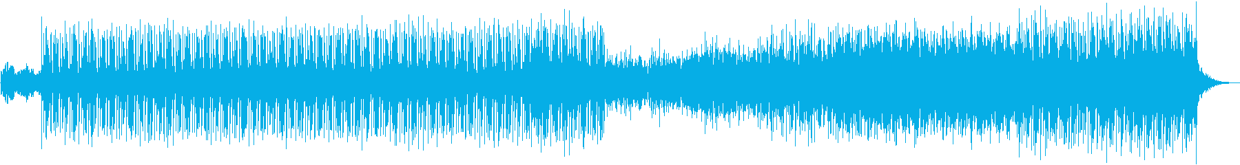 追跡シーン、対決シーン向けのテクノ の再生済みの波形