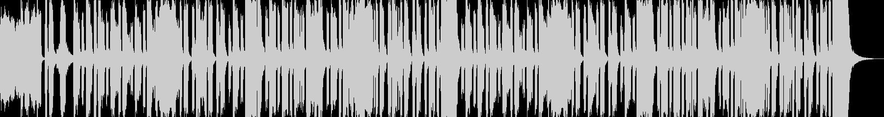 コミカルでワクワクしてくるような曲の未再生の波形