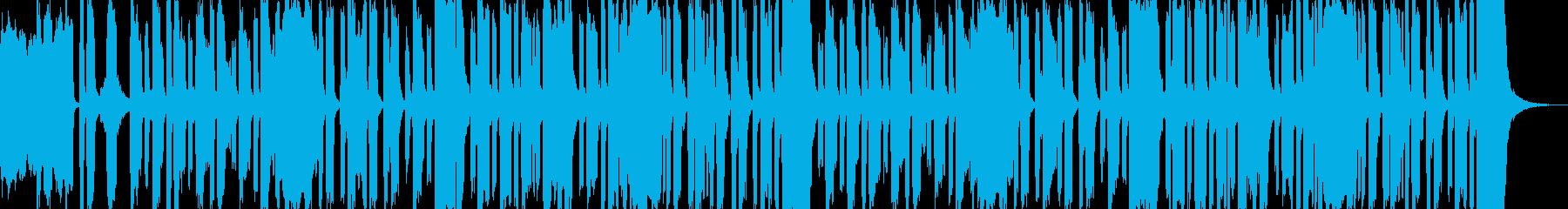 コミカルでワクワクしてくるような曲の再生済みの波形