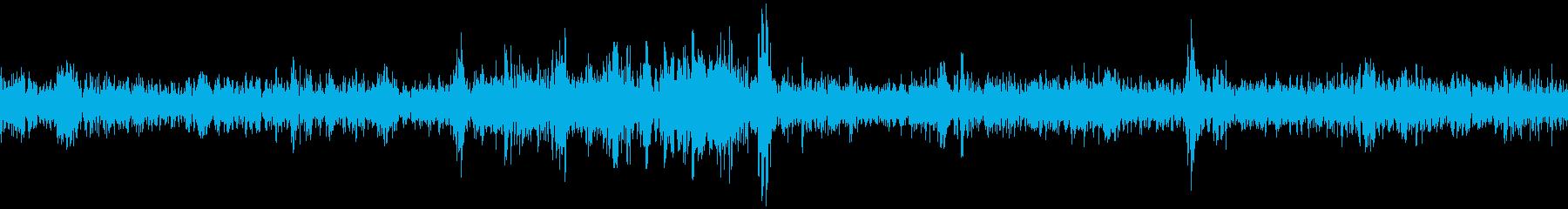 車の中(雨)/ワイパーの音の再生済みの波形