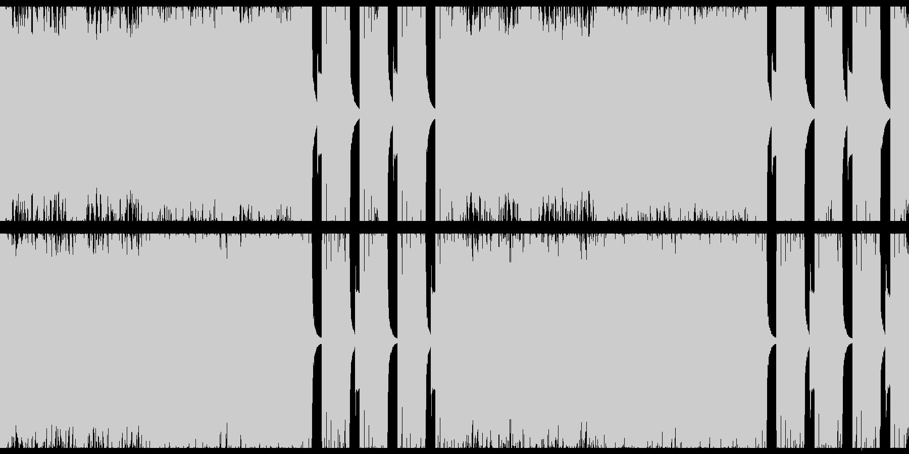ダークな重低音ギターのヘヴィロックの未再生の波形