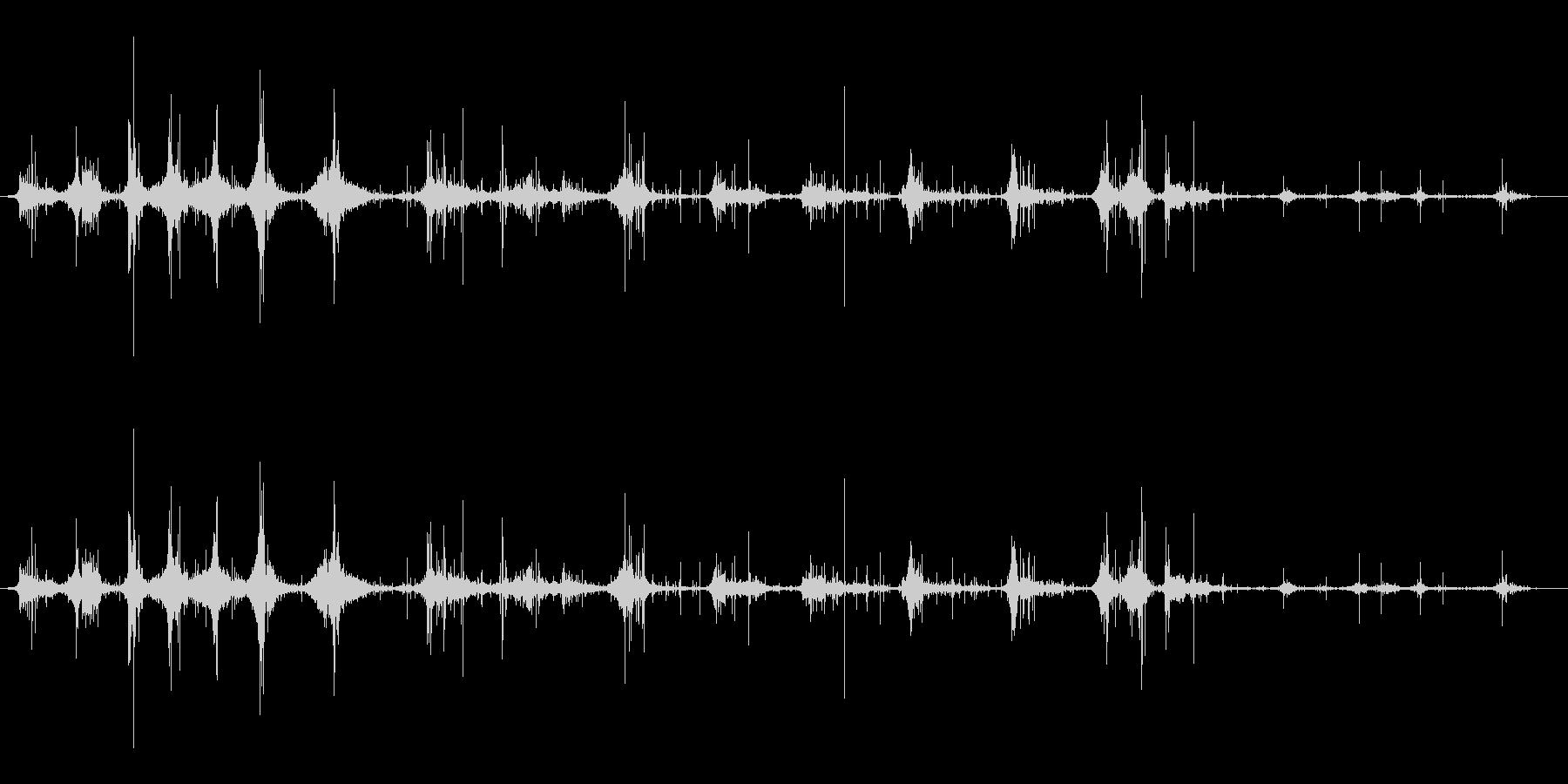 ジョグアンドウォークインダートの未再生の波形