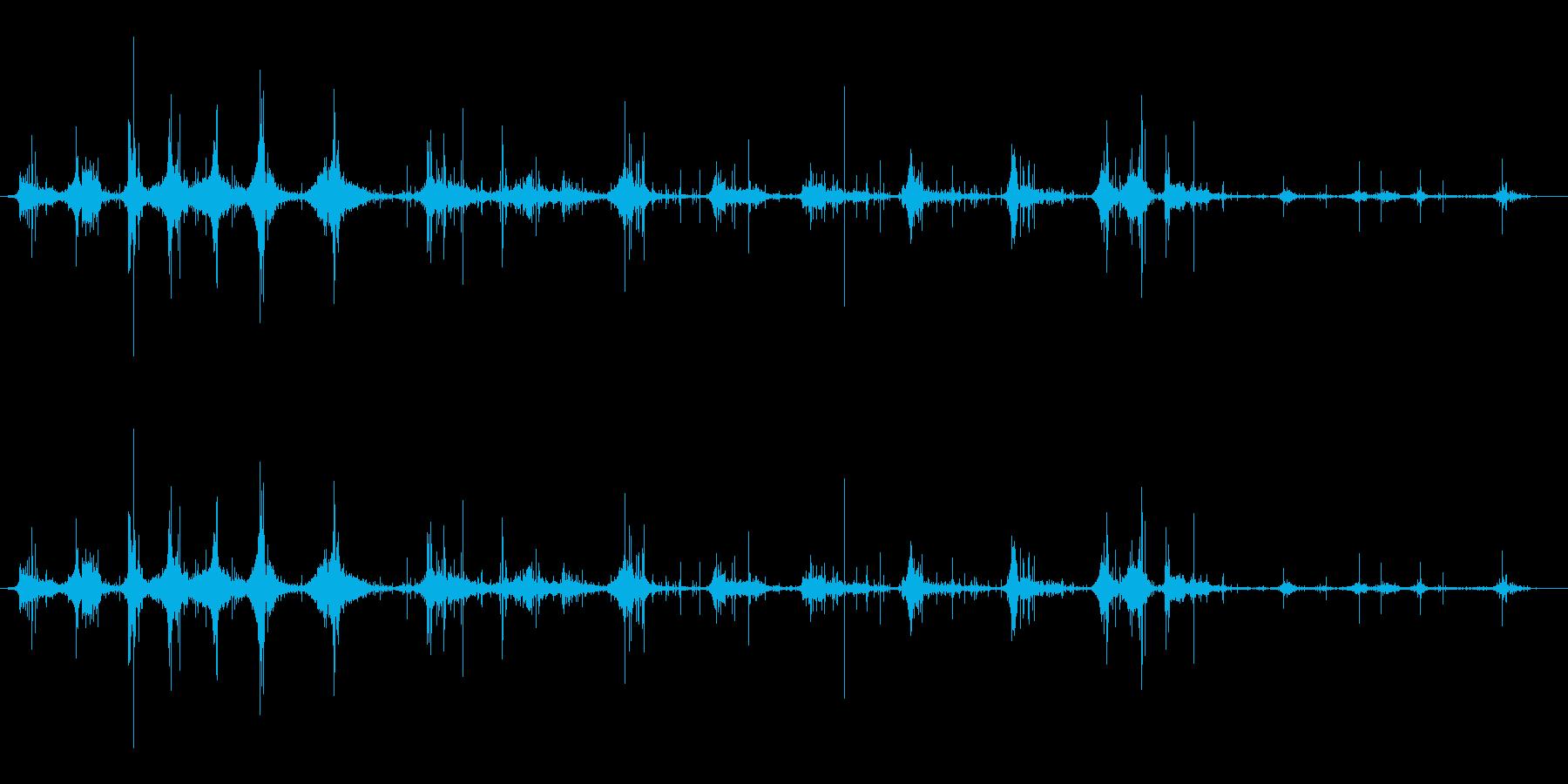 ジョグアンドウォークインダートの再生済みの波形