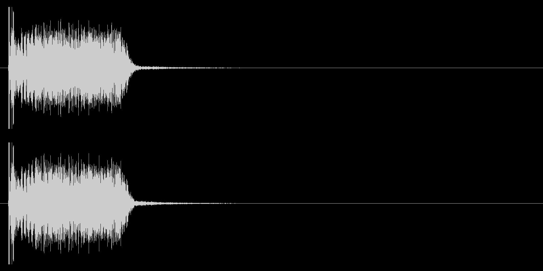 クラブ系 決定音03(ヒット)の未再生の波形