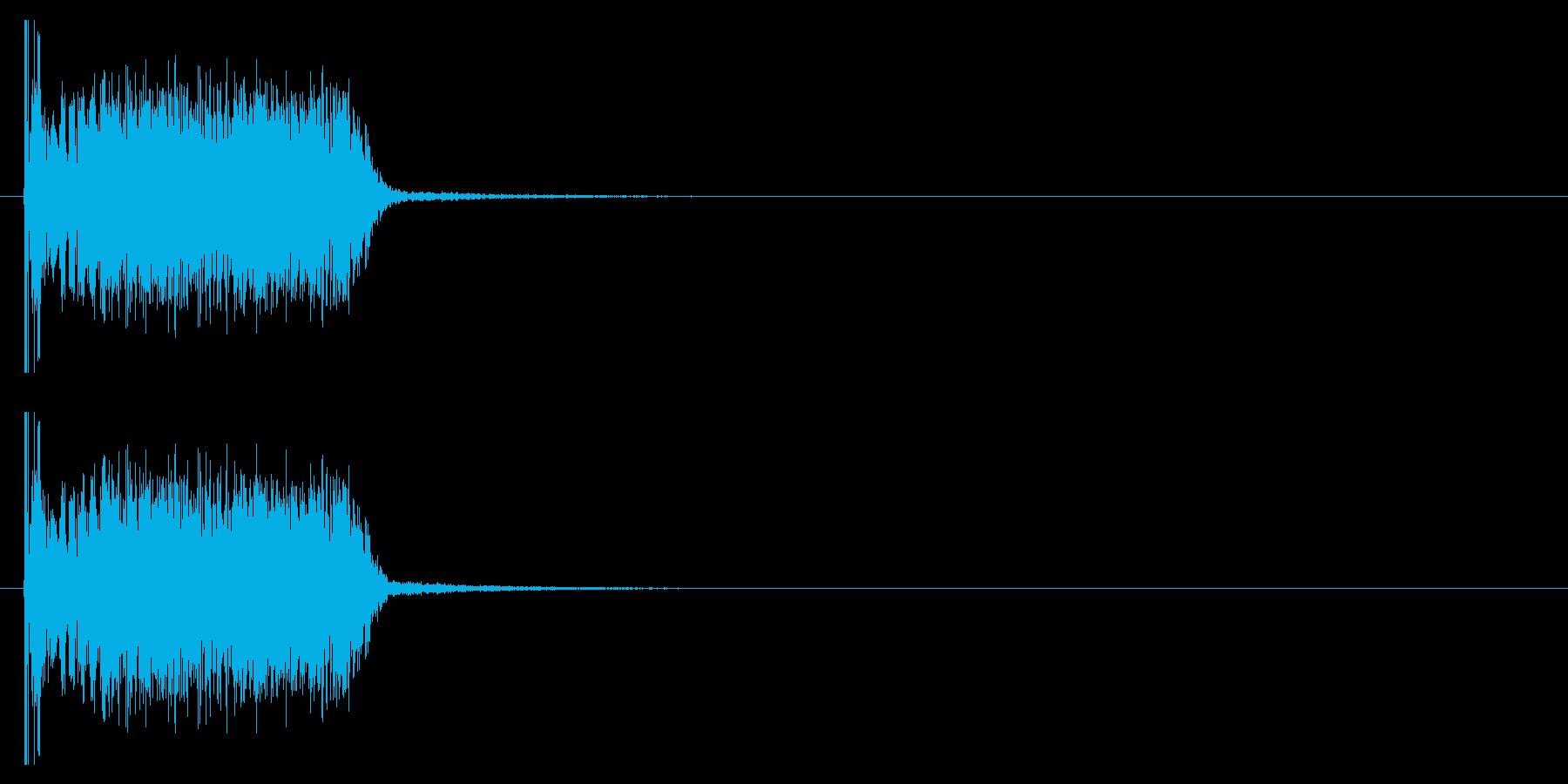 クラブ系 決定音03(ヒット)の再生済みの波形