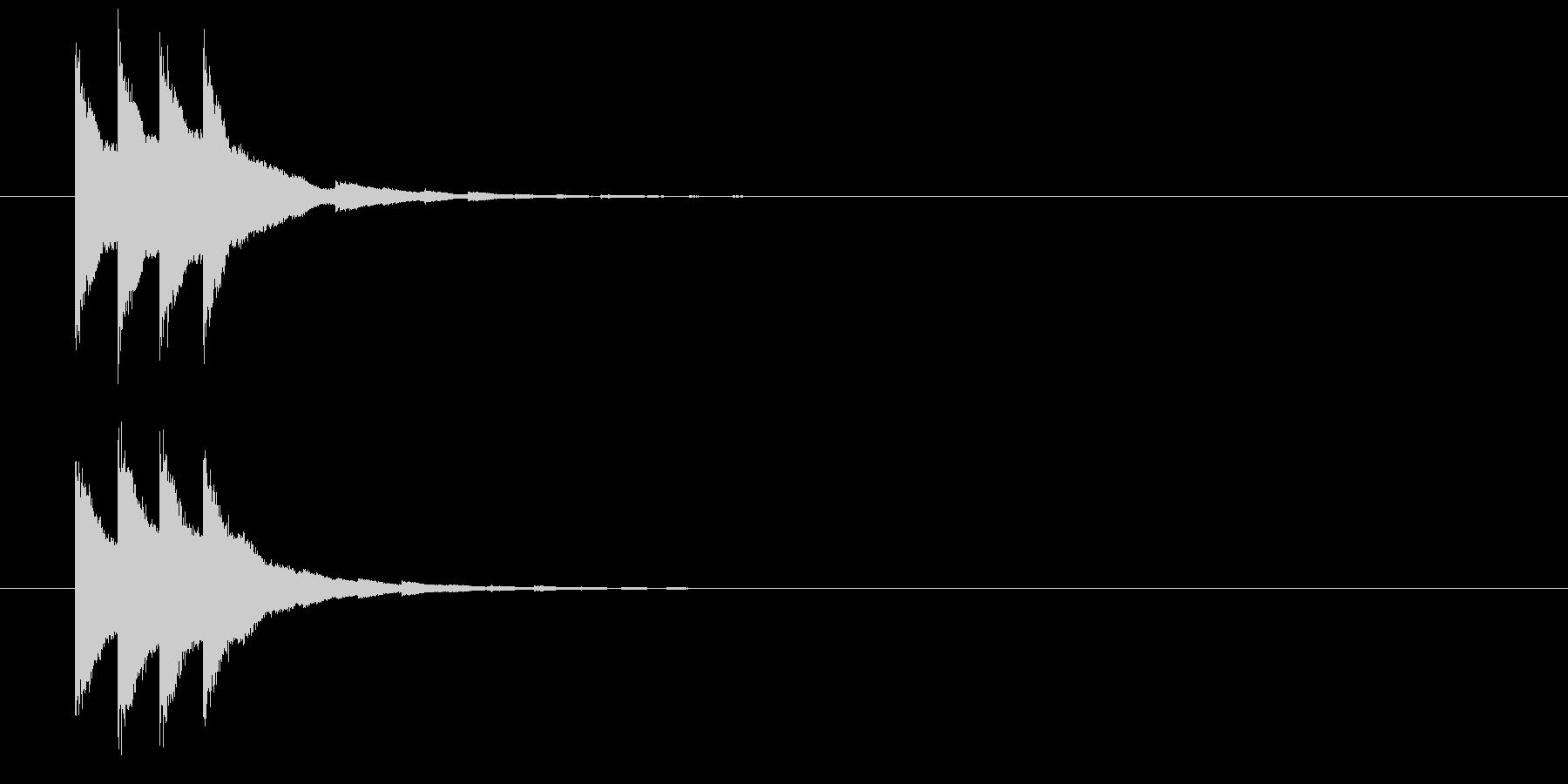 カンカン(鐘、ベル、発射合図)の未再生の波形