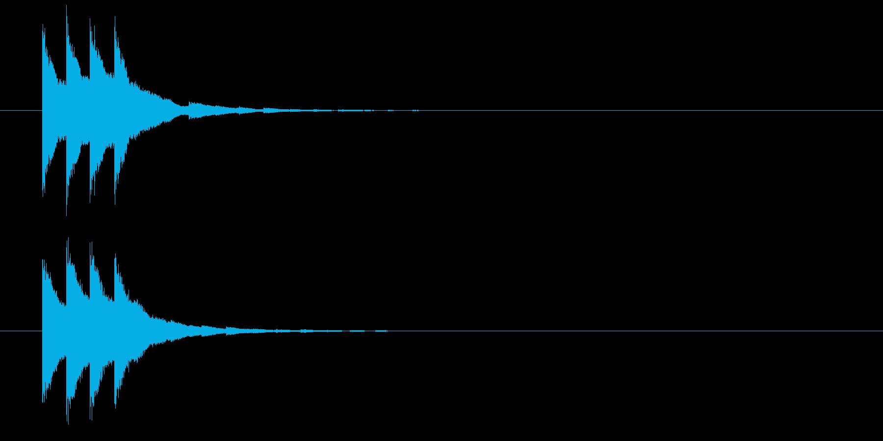 カンカン(鐘、ベル、発射合図)の再生済みの波形