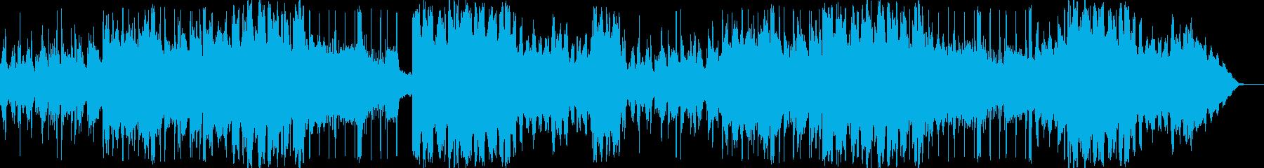 リラックスできるシンセサイザーのBGMの再生済みの波形