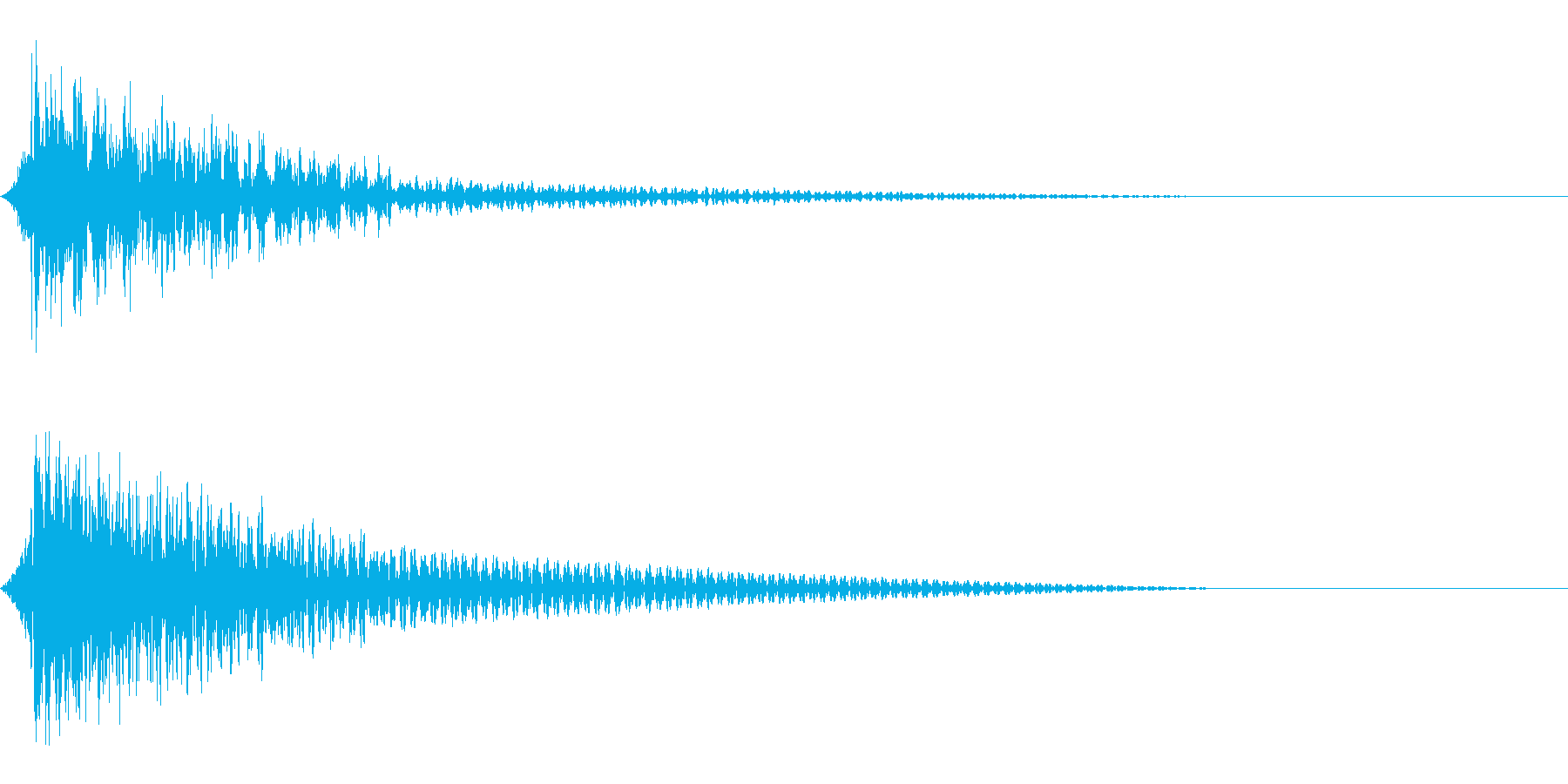 ホラー系アタック音97の再生済みの波形