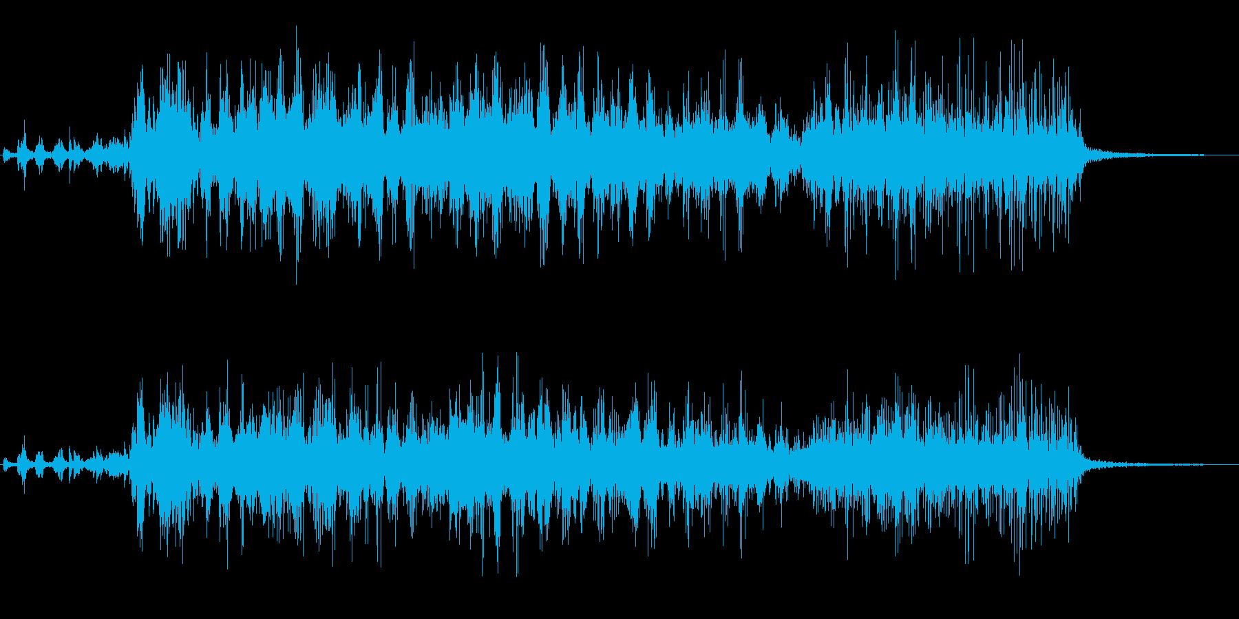 ヒューン(高速で飛んでいく音)の再生済みの波形