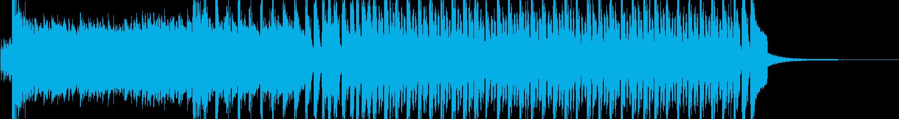 テクノ・ポップで華やかな登場のテーマの再生済みの波形