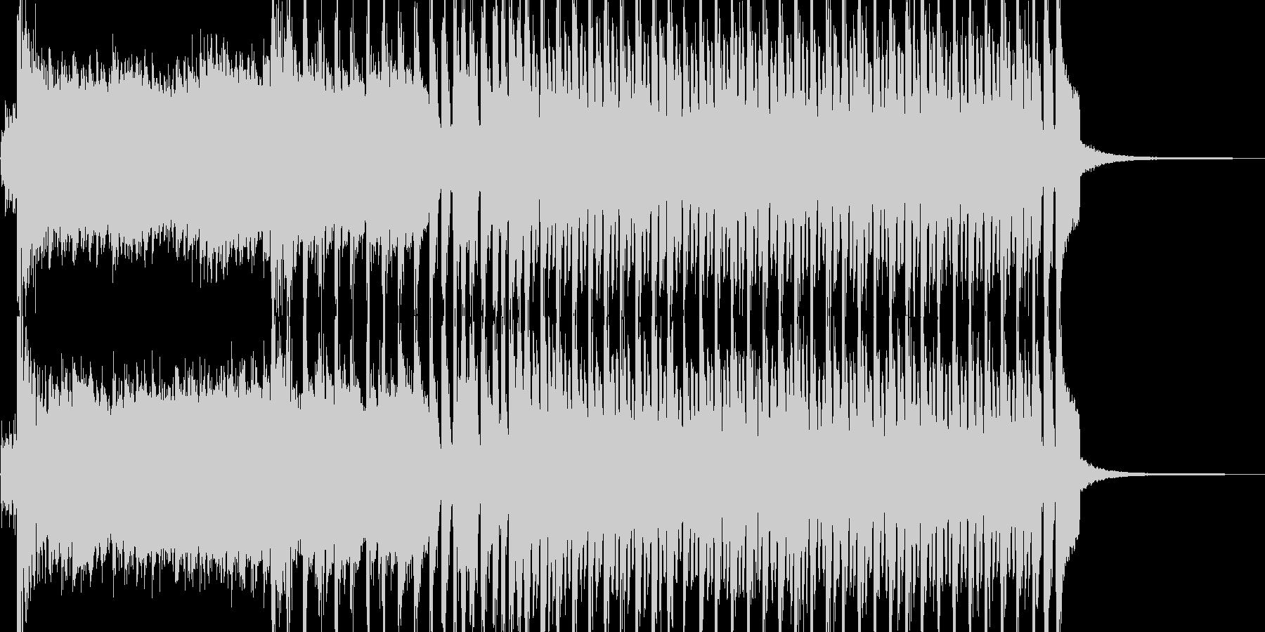 ポップで華やかな登場シーン BGMの未再生の波形