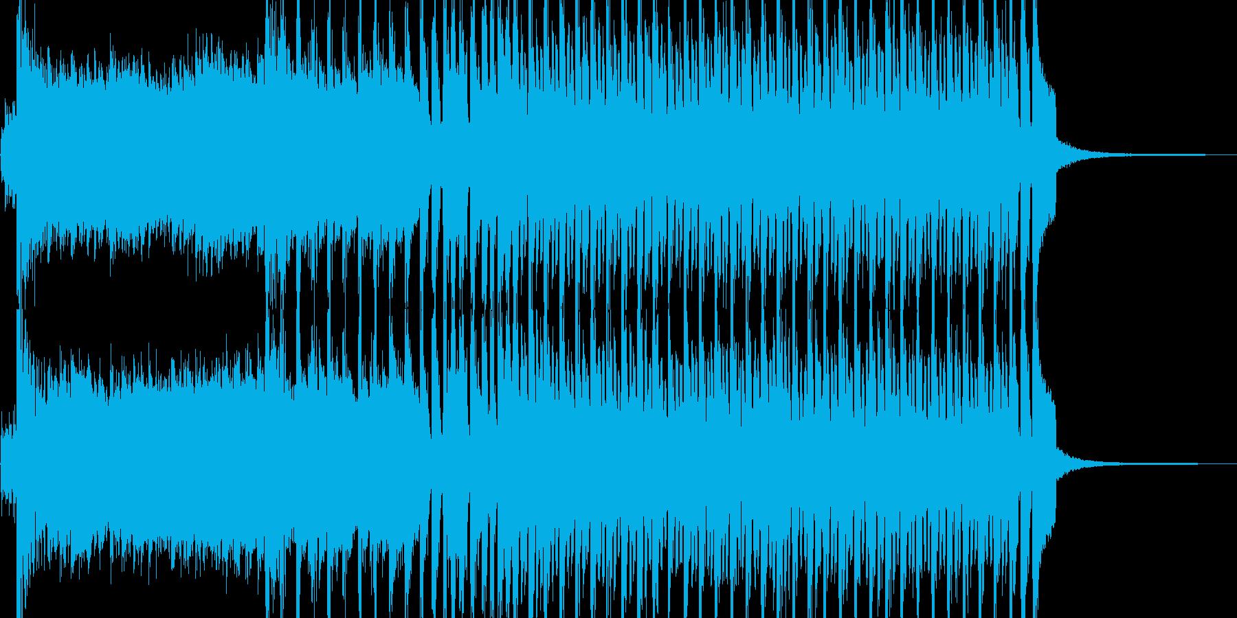 ポップで華やかな登場シーン BGMの再生済みの波形