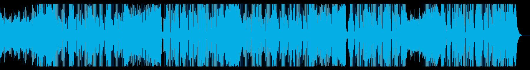 ワイルドでEDMロックなダンス曲の再生済みの波形