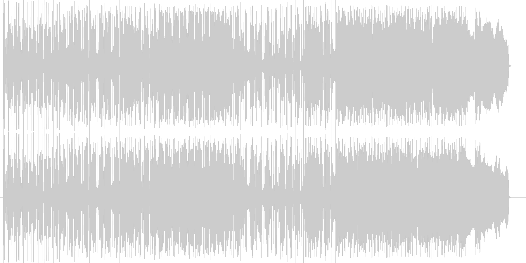 ワイルドかつストイックなブルースロックの未再生の波形