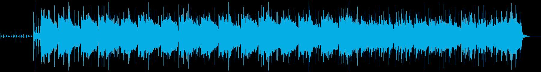 おしゃれで不思議な雰囲気のジャズなBGMの再生済みの波形