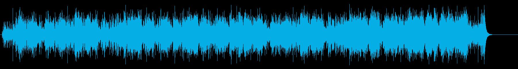哀愁のレゲエ風マイナーBGMの再生済みの波形