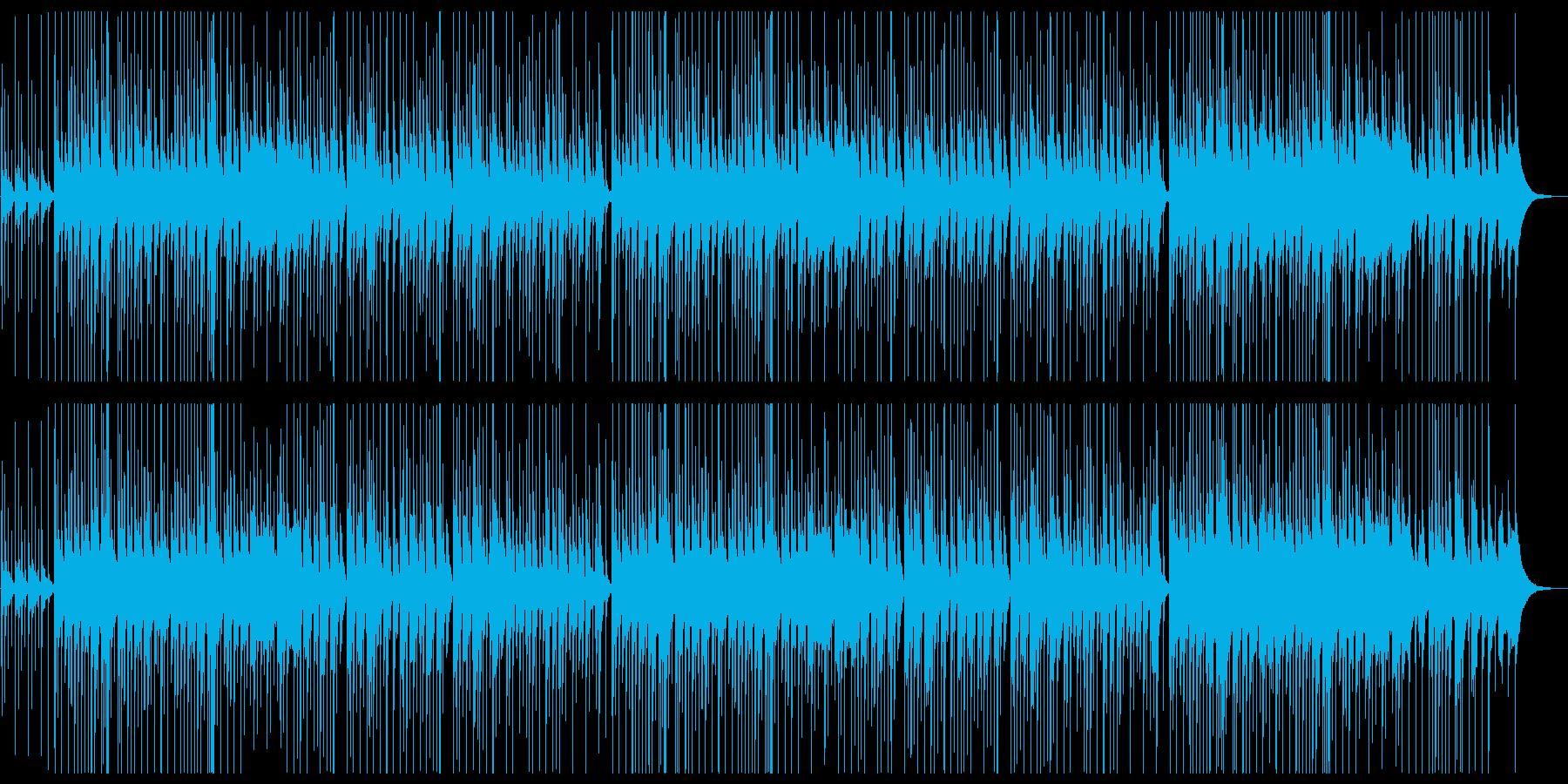 ゆったりほのぼのした和風楽曲の再生済みの波形