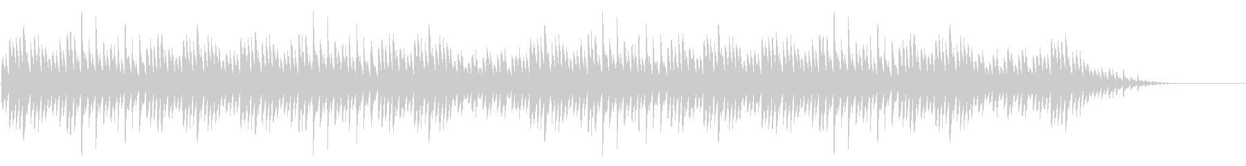 「大きな栗の木下で」シンプルなピアノソロの未再生の波形