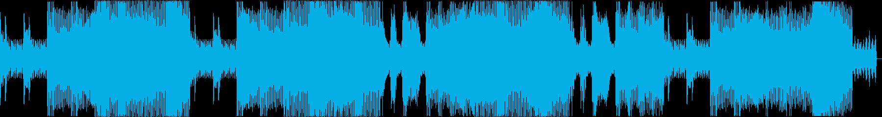 さっぱりとしたテクノの再生済みの波形