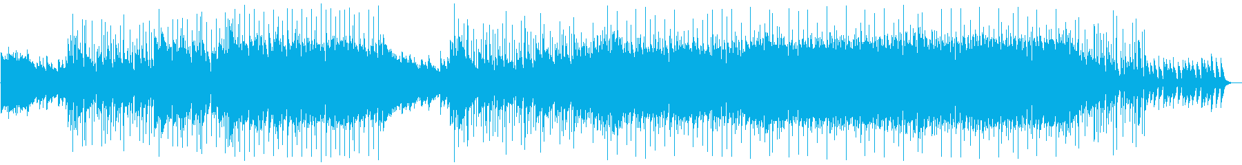疾走感 エネルギッシュ 盛り上がるEDMの再生済みの波形