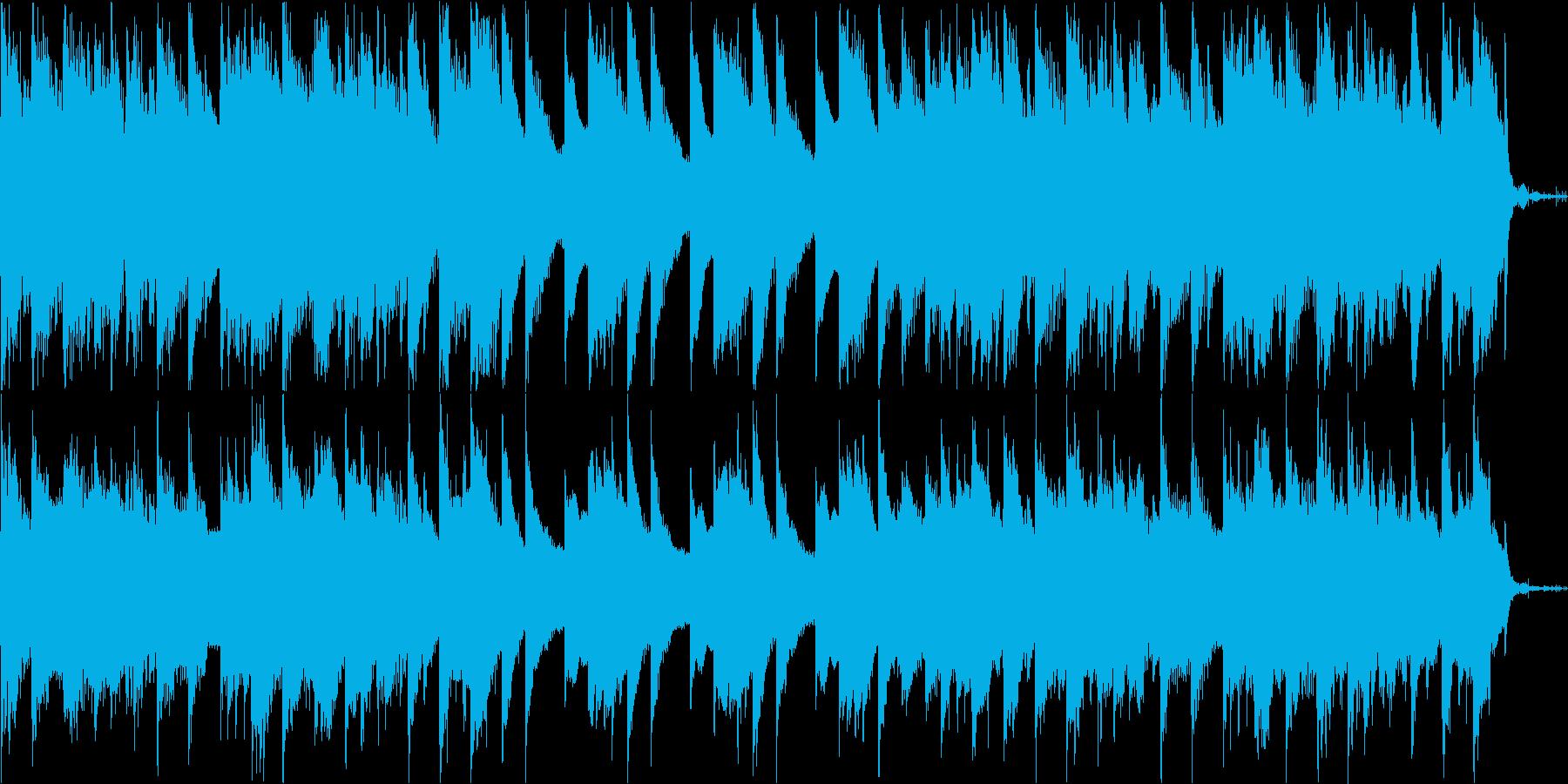 哀愁感があるピアノ、シンセBGMの再生済みの波形