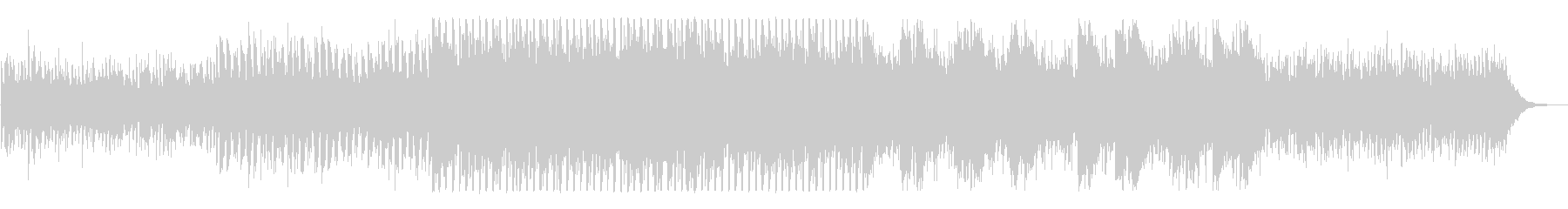 近未来的でクールなピアノテクノの未再生の波形