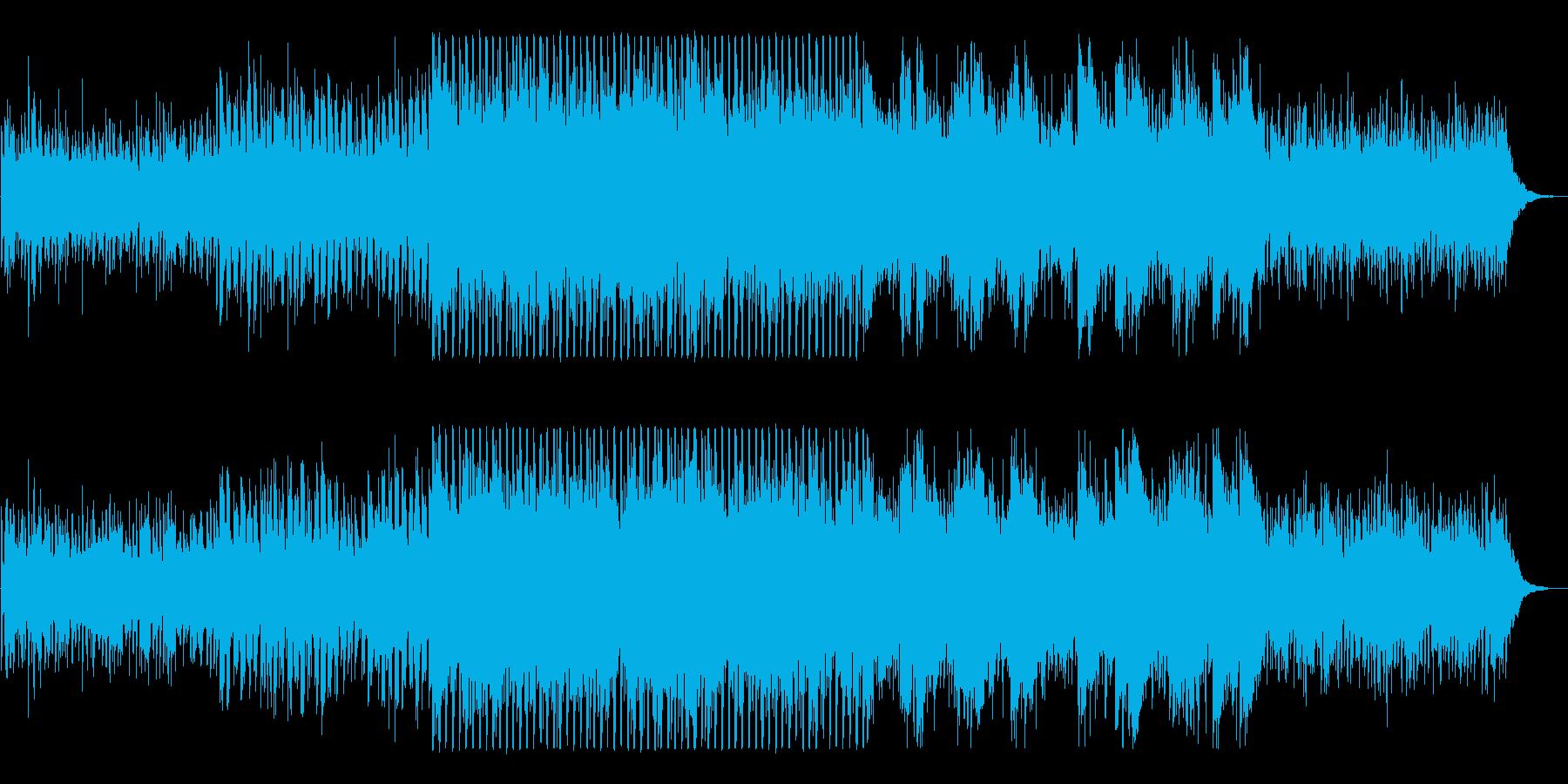 近未来的でクールなピアノテクノの再生済みの波形