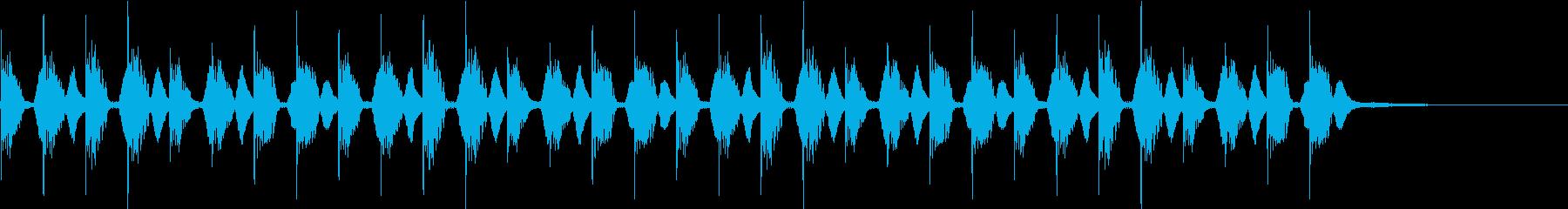 もやもやしたBGMの再生済みの波形