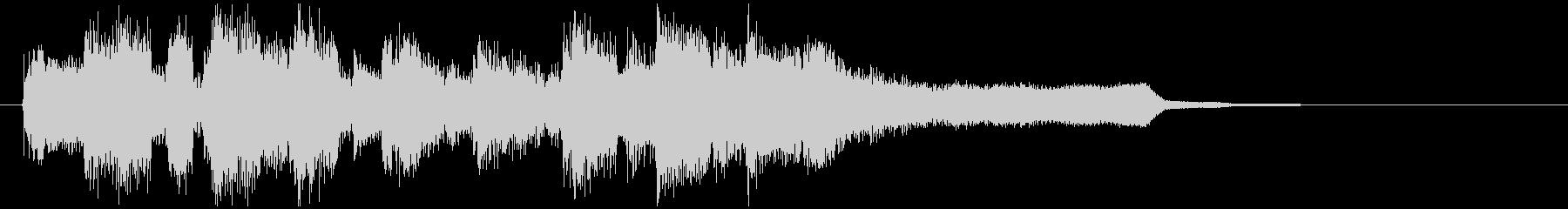 ミディアムテンポのジャズ、サックスのロゴの未再生の波形