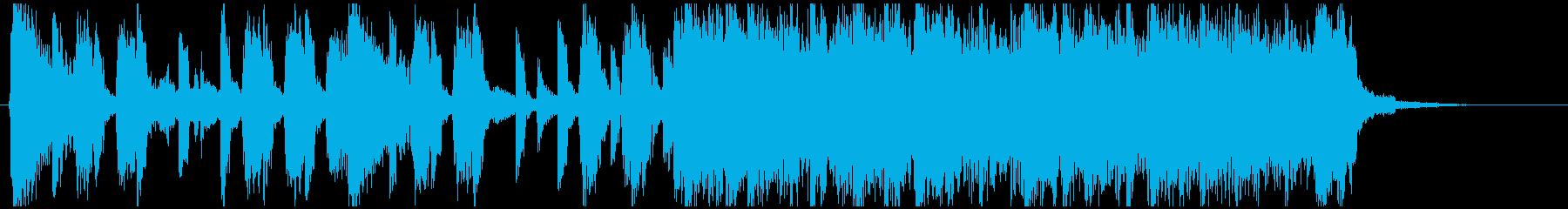 ニュース、ラジオ向き爽快な15秒ジングルの再生済みの波形