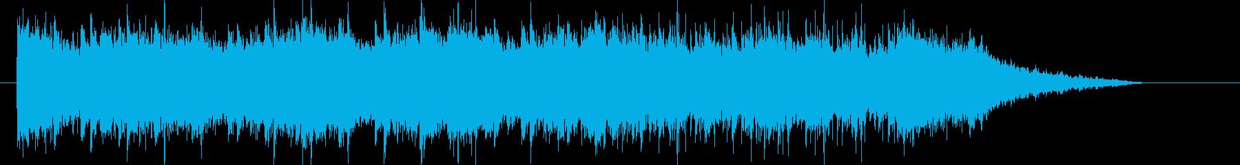 激しく壮大な和風音楽の再生済みの波形
