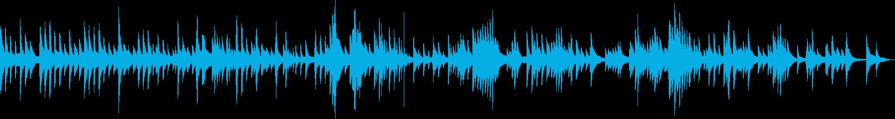 悲しげなシーンで活きるソロピアノBGMの再生済みの波形
