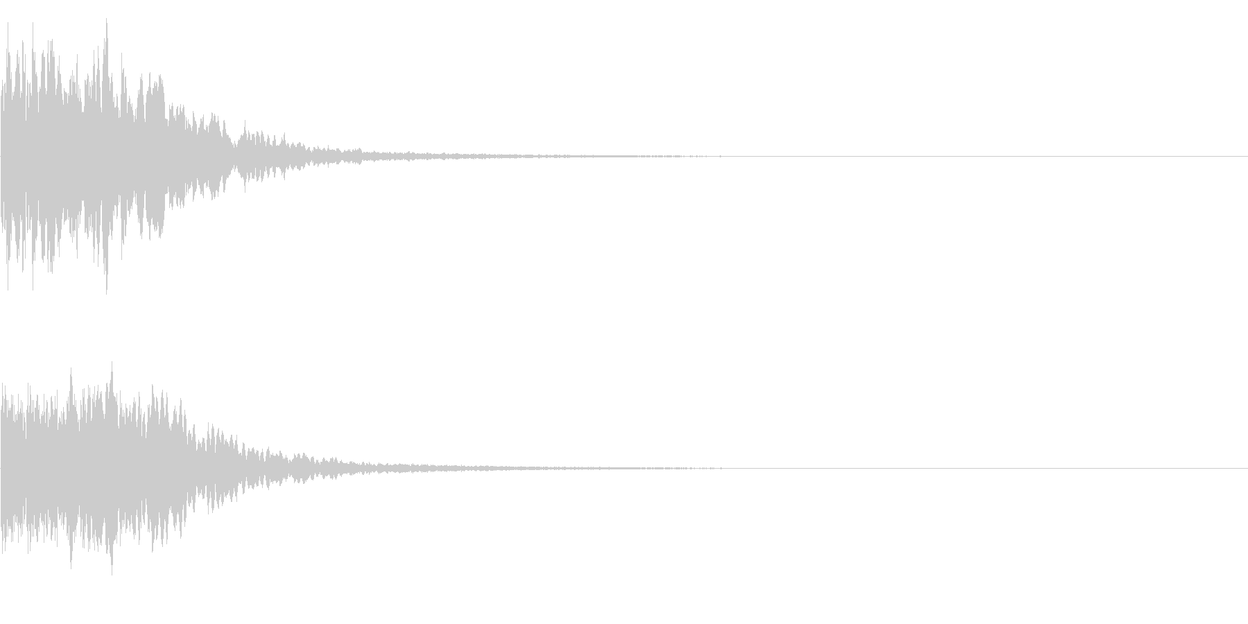 カキーン キシーン カットインや決定の未再生の波形