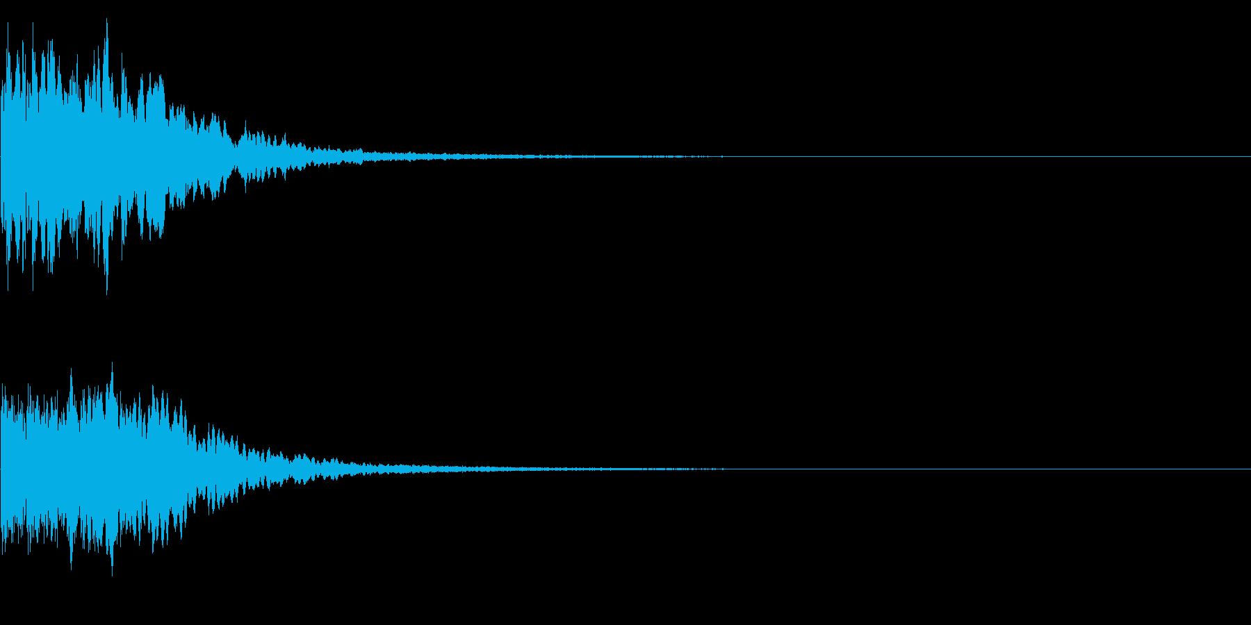 カキーン キシーン カットインや決定の再生済みの波形