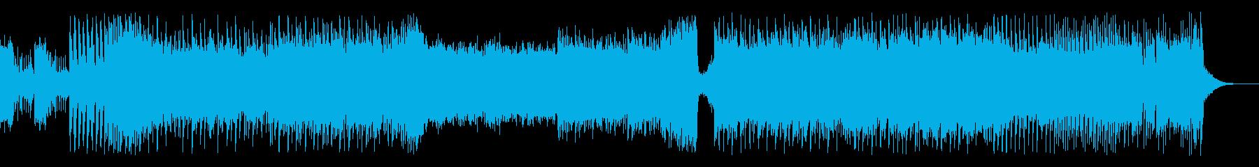 三味線と尺八の四つ打ち和風ハードロックの再生済みの波形