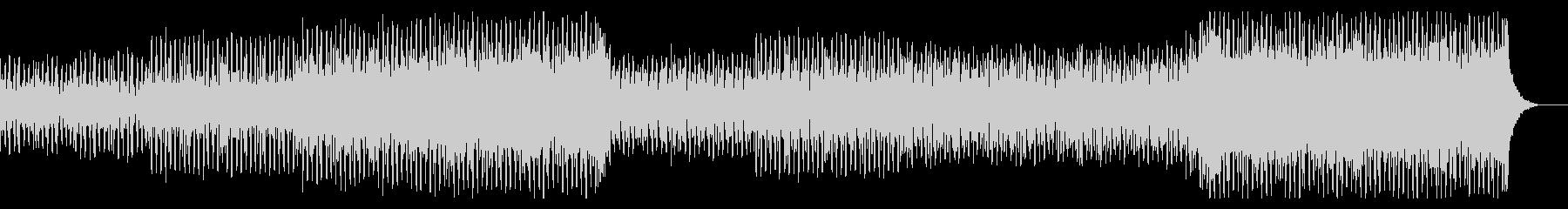 エレクトロとロックが融合したスピード感の未再生の波形