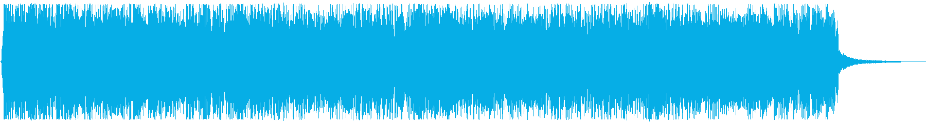 明るく疾走感のあるロックバンドサウンドの再生済みの波形