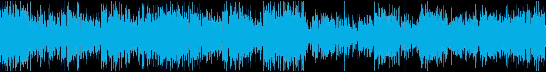 アグレッシブ管楽器ジャズ ※ループ仕様版の再生済みの波形