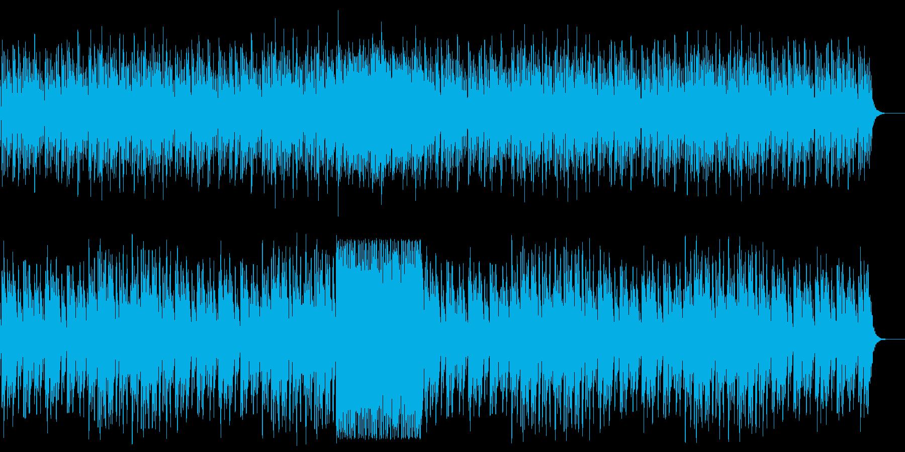 可愛い温かみハネ感のある木琴の曲の再生済みの波形