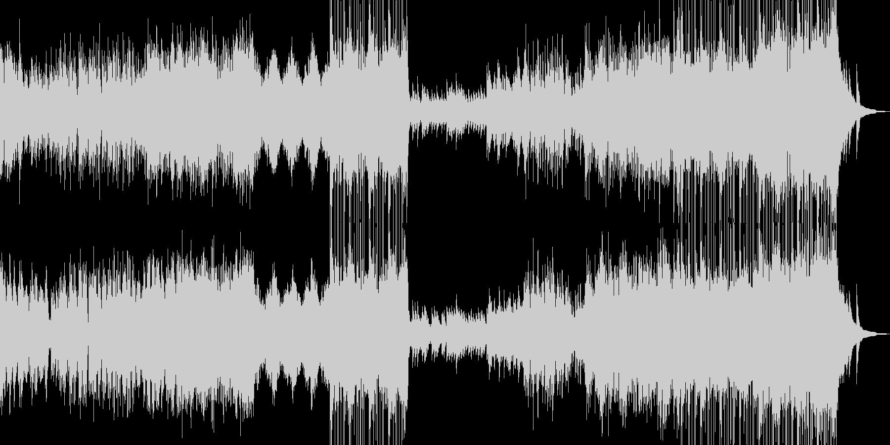 哀愁を帯びた雪景色イメージ・ドラム有の未再生の波形